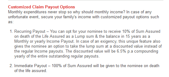 online term insurance with income benefits - kotak preferred e term