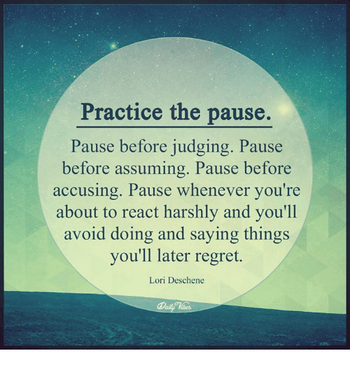 practice pause